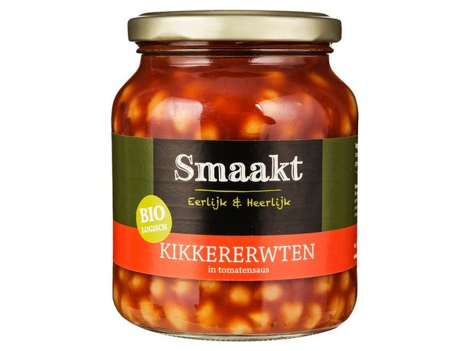 Cizrna v rajčatové omáčce, bio - Smaakt, 350g