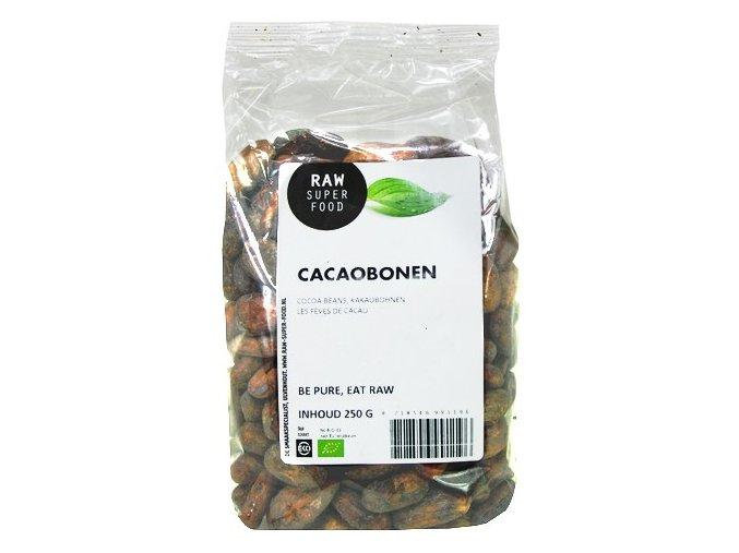 AKCE - Kakaové boby celé, raw - Raw Organic Food, 250 g