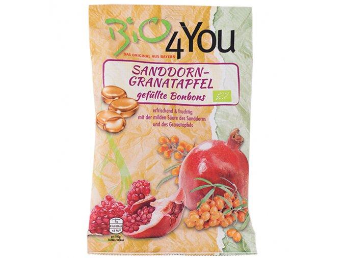 Bonbony s rakytníkem a granátovým jablkem 75g Bio