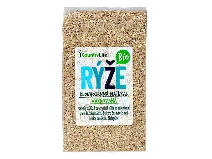 Rýže dlouhozrnná natural vakuovaná 1 kg bio