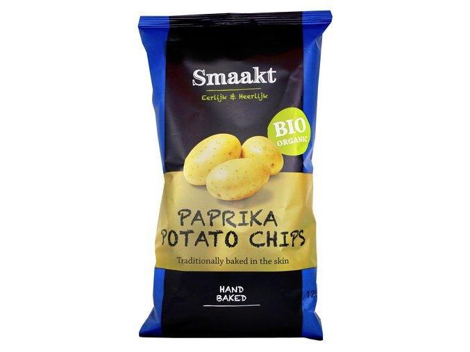 Bramborové chipsy paprikové, bio – Smaakt, 125 g