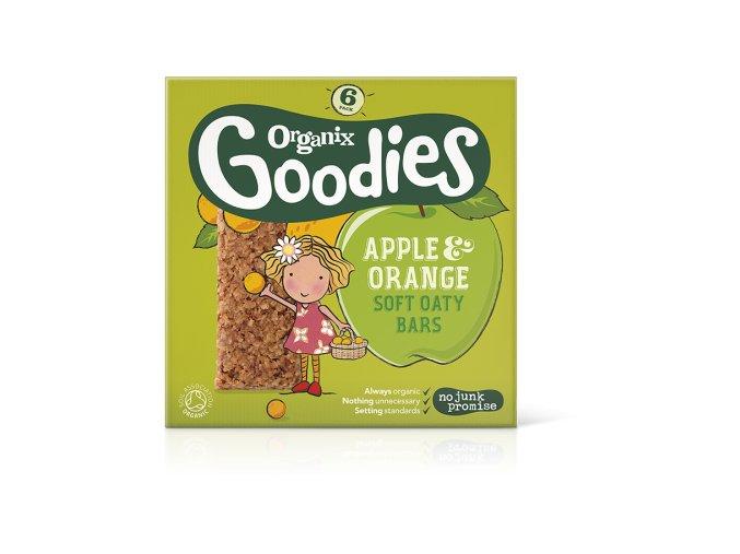 AKCE - Jablečno-pomerančové ovesné tyčinky – Organix, 6 x 30g