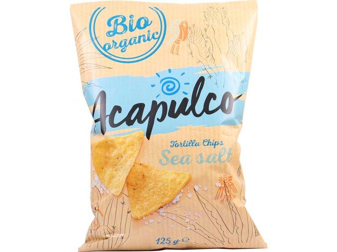 Tortilla chipsy s mořskou solí Acapulco, Bio - 125 g