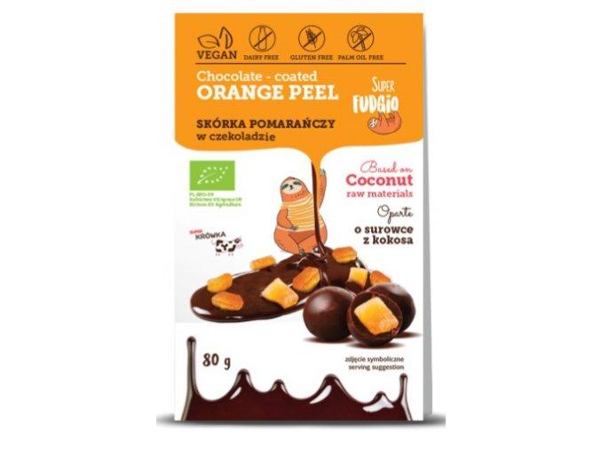 Pomerančová kůra v čokoládě, bio, vegan