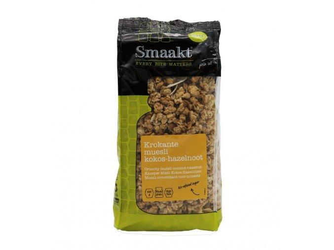 Kokosovo-lískooříškové křupavé müsli, bio – Smaakt, 450 g