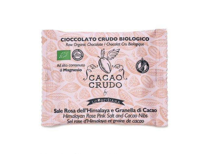 dark himalayan pink salt and criollo cacao nibs