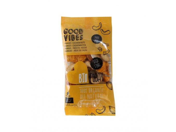 Ořechovo-ovocný mix s mangem, kešu a mandlemi, bio – Bio Today, 35 g