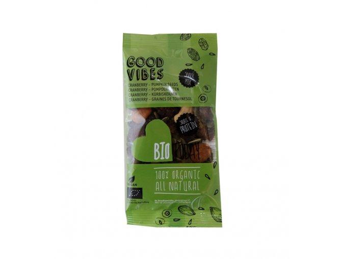 Ořechovo-ovocný mix s mandlemi, brusinkou a dýňovými semínky, bio – Bio Today, 42 g