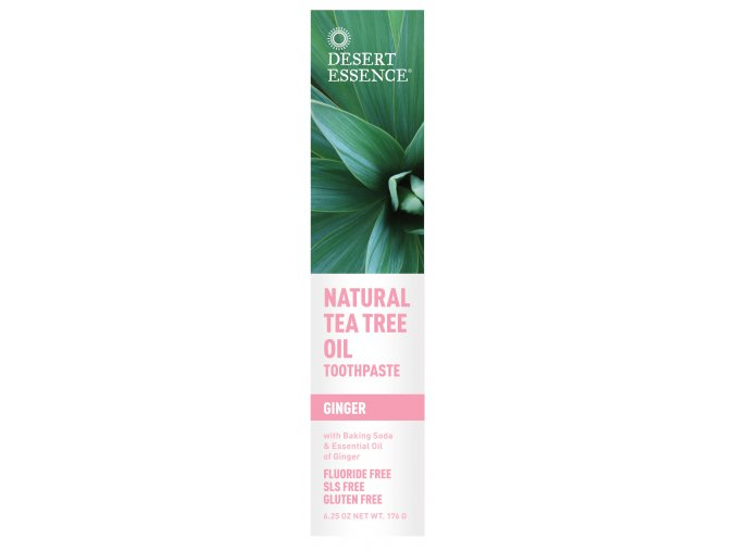 Pasta na zuby - ZÁZVOR (Natural Tea Tree Oil Toothpaste — Ginger)