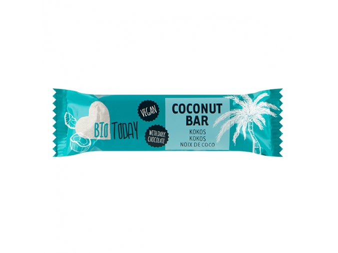 8190 kokosova tycinka v horke cokolade bio BioToday 40g
