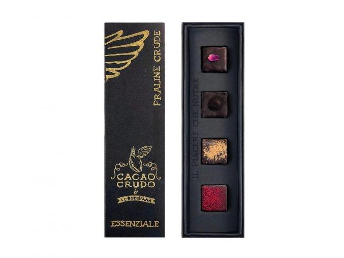 Cacao Crudo - Essenziale - Pralinky, Raw & Bio 40 g