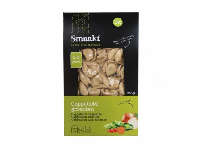 Cappelletti se zeleninou, bio, vegan - Smaakt, 250 g