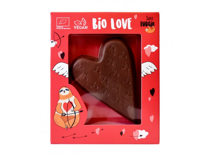Veganské čokoládové valentýnské srdce