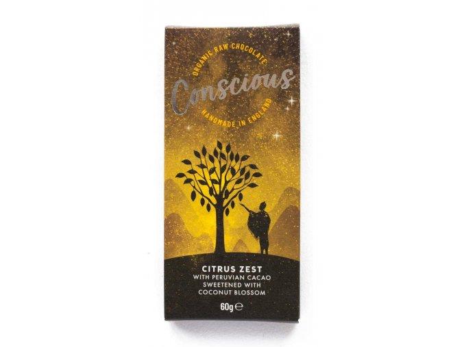 Conscious čokoláda – Citrus, bio & raw, 60 g