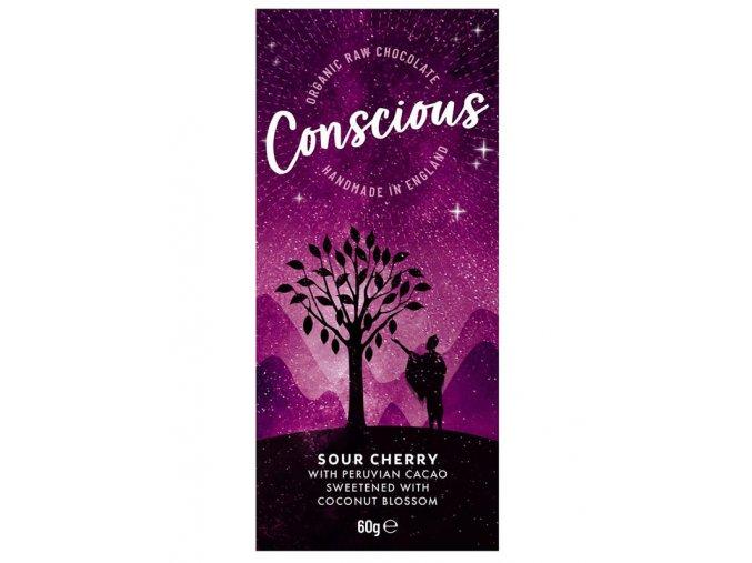 Conscious čokoláda – Višeň, bio & raw, 60 g