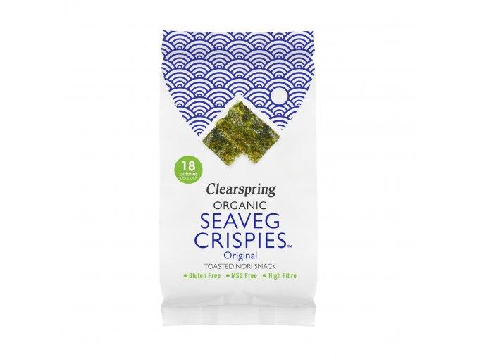 36604 seaveg crispies křupky mořské řasy nori clearspring