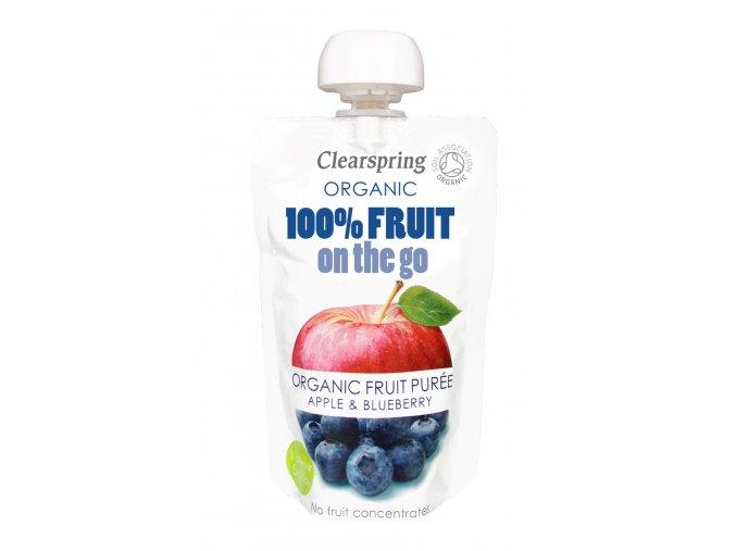 36496 ovocne pyre jablko a boruvky bio clearspring 120g