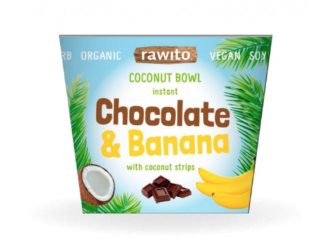 Chocolate and banana coconut bowl