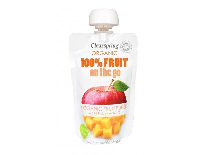 36458 ovocne pyre jablko a mango bio clearspring 120g