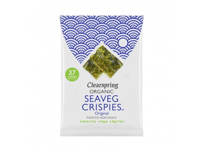 36595 seaveg crispies krupky z morske rasy nori bio clearspring 8g