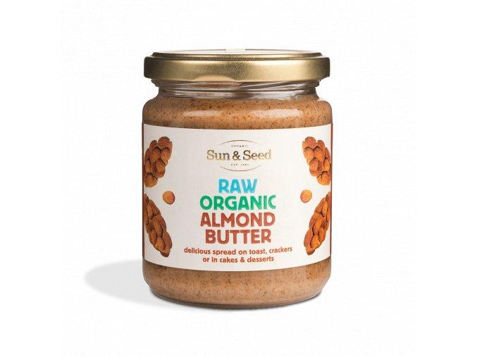 Mandlová pasta, bio, raw  - Sun & Seed, 250 g