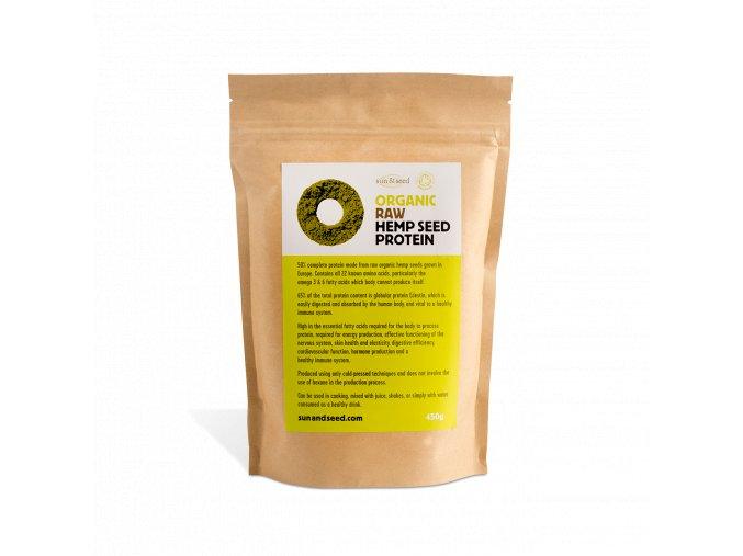Konopný protein raw, bio -  Sun & Seed, 450 g