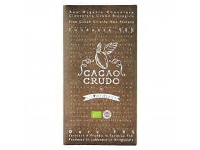 Cacao Crudo - Dark chocolate 90%, Raw & Bio 50g