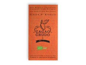 Cacao Crudo - Pomeranč (Cacao 77%), Raw & Bio 50g