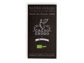 Cacao Crudo - Dark chocolate 100%, Raw & Bio 50 g
