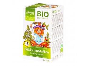 Čaj Dětský ovocný s meduňkou, bio - Apotheke, 40g