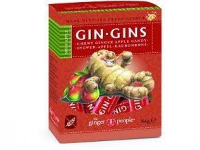 GIN GINS SPICY APPLE 84g - Zázvoro-jablkové žvýkací bonbóny