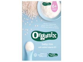Dětská rýže s přídavkem vitamínu B1 – Organix, 100 g