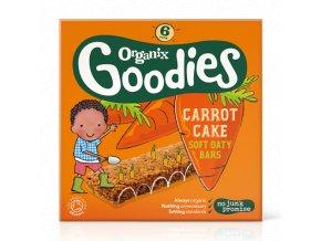 Měkké ovesné tyčinky s mrkví - Organix 6 x 30 g