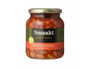 Bílé fazole v rajčatové omáčce, bio - Smaakt, 350g