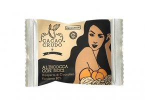 Meruňky s vlašskými ořechy v hořké čokoládě, bio - Cacao Crudo 25g