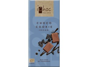 iChoc - vegan čokoláda cookie, bio 80 g