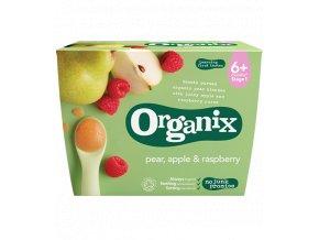 AKCE - Přesnídávka z jablek, hrušek a malin, Bio – Organix 4x100g