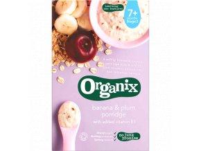 Kaše s banány a švestkami 7+, Bio  – Organix 200 g