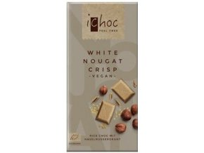 iChoc - Vegan bílý nugát s oříšky, bio 80 g
