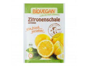 Citronová kůra strouhaná sušená BIO 9g Biovegan
