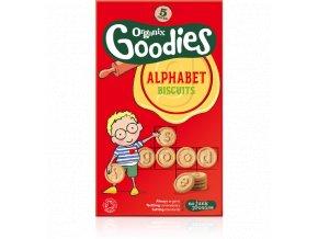 AKCE - Abeced Sušenky - Alphabet biscuits bio – Organix, 5 x 25g