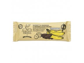 banana and cacao nibs bar