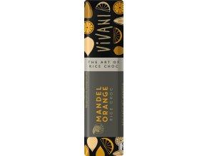 AKCE - VIVANI Bio tyčinka bílá s rýžovým mlékem - mandle a pomeranč - oplatka 35g