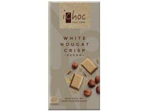 AKCE - iChoc - Vegan bílý nugát s oříšky, bio 80 g