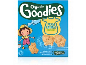 Dětské sušenky Zvířátka – Organix, 100 g - AKCE