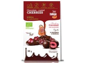 Lyofilizované třešně v čokoládě bio vegan