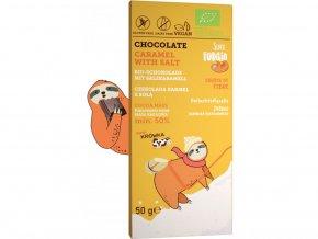 Čokoláda se slaným karamelem, bio, vegan - Super Fudgio, 50 g