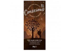 Conscious čokoláda – Tmavá 75%, bio & raw, 30 g