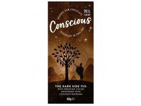 Conscious čokoláda – Tmavá 75%, bio & raw, 60 g