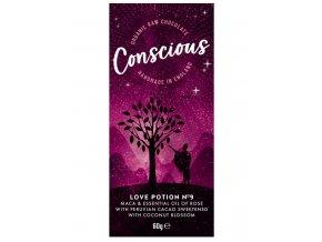 Conscious čokoláda – Elixír lásky č. 9, bio & raw, 60 g